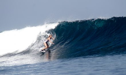 Surfing at Kuta Beach, Bali