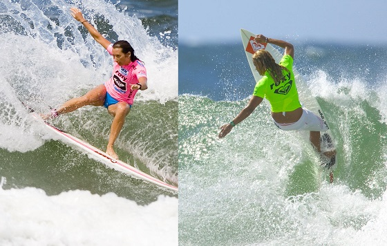 Surf legends compete at the Roxy Pro