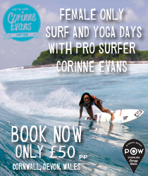 Corinne advert surf girl