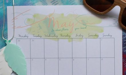 Download your May Printable Calendar