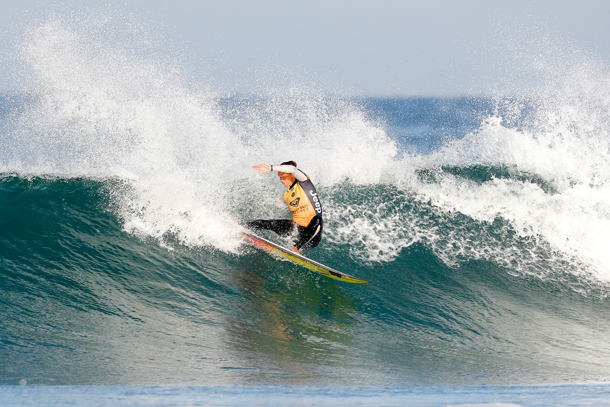 Current World No.1 Sally Fitzgibbons (AUS) continued to perform and advanced into the semifinals of the Roxy Pro France. Photo: WSL / Poullenot