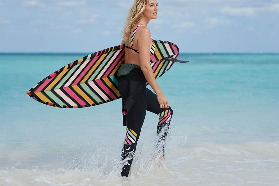 New Roxy eco-fabricated POP Surf collection